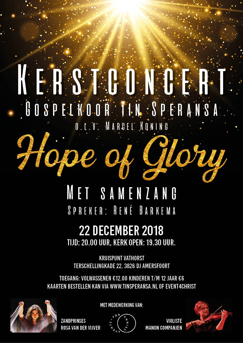 Hope of Glory Kerstconcert